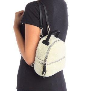 🆕 Steve Madden Faux Fur Minnie Mini Backpack